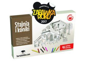 """Stajnia i koniki – nagrodzona tytułem """"Zabawka Roku 2017""""."""